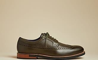 Ted Baker Classic Leather Brogues in Khaki DYLUNN, Mens Accessories