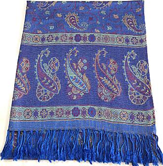 CJ Apparel Royal Blue Iridescent Cloud Design Shawl Scarf Wrap Pashmina CJ Apparel **NEW**