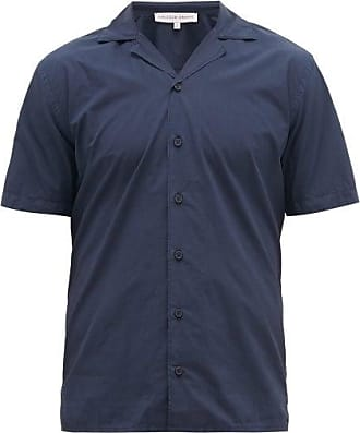Orlebar Brown Travis Cotton-poplin Bowling Shirt - Mens - Navy