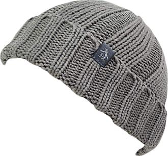 Original Penguin Boho Ribbed Knit Beanie Hat One Size (Grey)