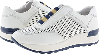 24 Horas 24 Hours 24415 Womens Leather Trainers Size: 6 Color: White