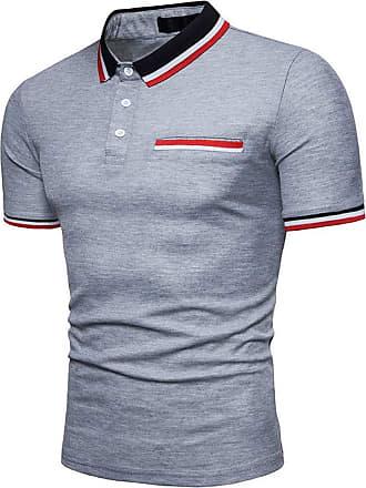 NPRADLA Casual Polo Shirts New Hot 100 Cotton Mens Slim Sports Short Sleeve Casual Shirt T-Shirts Tee Short Tops Blouse (X-Large, ZZ-Black)