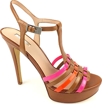 b7082f4291b Guess Sandalwood Woman Kamali2 Sandal Leather Heel 13 PL 3 Lugga Brown-36