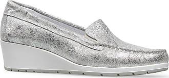 Van Dal Womens Megan Silver Loafers 6 UK