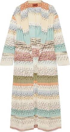 Missoni Crochet-knit Coat - Blue
