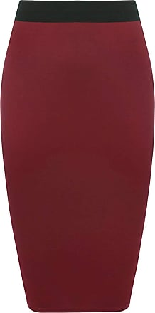Purple Hanger Women Plain midi pencil skirt