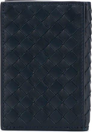 Bottega Veneta Porta-cartões Intrecciato de couro - Azul