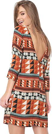 Dress To Vestido Dress to Curto Geométrico Caramelo/Verde