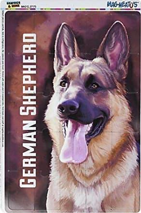 Graphics & More German Shepherd Gsd Dog Pet Mag-Neatos Novelty Gift Locker Refrigerator Vinyl Puzzle Magnet Set