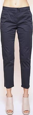 Woolrich Dunkelblaue Stretch Satin Damenhose - cotton   navy   31 - Navy