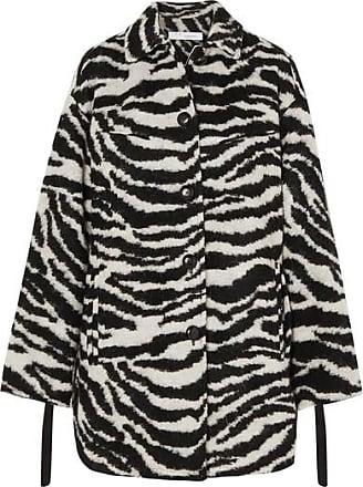 Iro Bera Oversized Zebra-print Brushed-felt Jacket - Black
