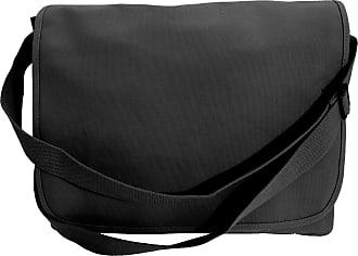 BagBase Bagbase Classic Shoulder Strap Canvas Messenger Bag (One Size) (Black)