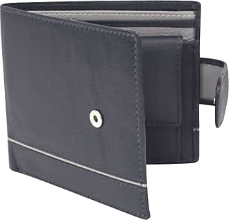 Dents Mens Smooth Two Tone RFID Blocking Wallet - Navy/Charcoal Grey