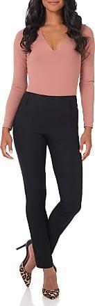 Rekucci Womens Ease into Comfort Stretch Slim Trouser (4,Grey Stripe)