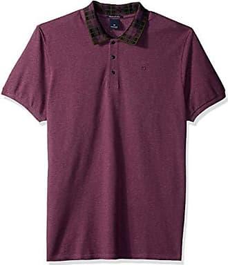 0096af91 Scotch & Soda Mens Polo in Neps Pique Quality with Jacquard Rib Collar,  Dark Violet