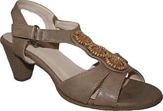 Cushion-Walk Ladies Slip on Cushionwalk Smart/Casual Holiday Dress Sandals Size 3-8 (UK7, Biege Bead)