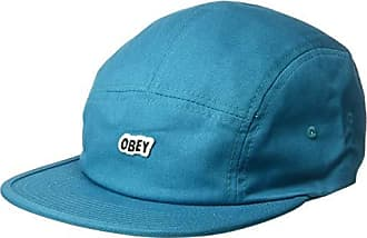 Obey Mens Sleeper 5 Panel Camp Cap, Pure Teal, ONE Size