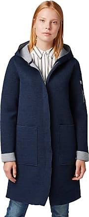 Tom Tailor Tom Tailor Womens Kontrastfarbene Sweat Jacket, Blue (Sky Captain Blue 10668), Large