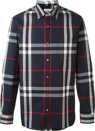 Burberry Camisa xadrez - Azul