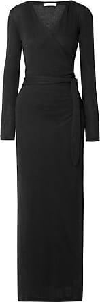Skin Adalia Organic Pima Cotton-jersey Wrap Maxi Dress - Black
