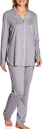 Langarm Damen Pyjama Schlafanzug mit durchgehenden Knopfleiste Feraud