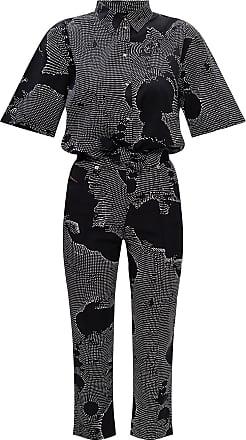 Diesel Patterned Jumpsuit Womens Black