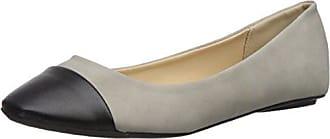 Qupid Womens BEE-53 Ballet Flat, Light Grey, 6 M US