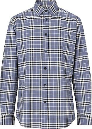 Burberry Camisa com estampa xadrez - Azul