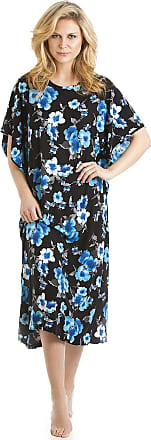 Camille Womens Full Length Floral Print Kaftans Small Blue