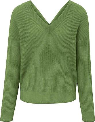 include V-Pullover aus 100% Premium-Kaschmir include grün