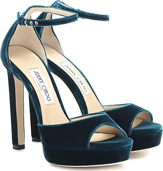 Jimmy Choo London Pattie 130 velvet plateau sandals