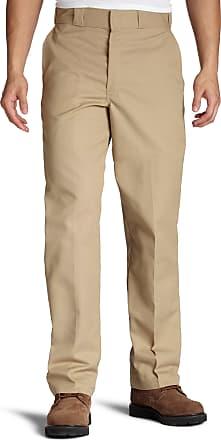 Dickies Mens Flat Front Multi Use Pocket Work Pant, Khaki, 32x30
