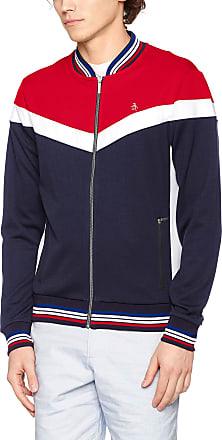 Original Penguin Original Penguin Mens Colour Block Track Jacket, Red (Lipstick Red 627), XX-Large