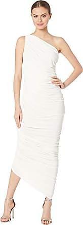 Norma Kamali Womens Diana Gown, Ivory, L