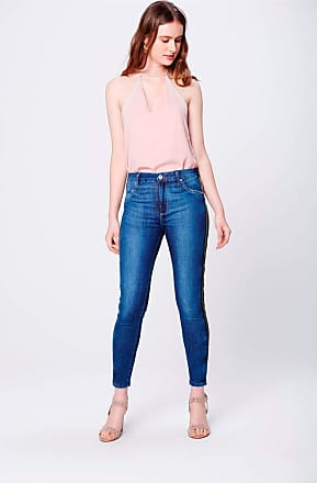Damyller Calça Jeans Jegging Cropped Cintura Alta Tam: 34 / Cor: BLUE