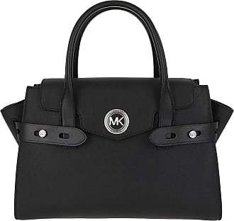 Michael Kors Carmen LG Flap Satchel Bag Black