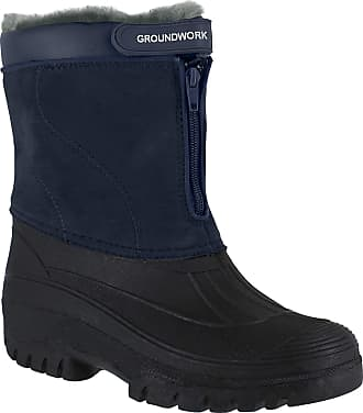 Groundwork GroundWork LS88W Womens Mucker Stable Yard Winter Snow Zip Up Boots Wellies - UK 8 Navy