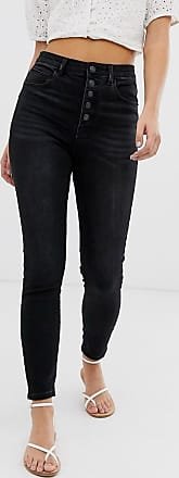 Pimkie 4 buttons skinny jeans in black