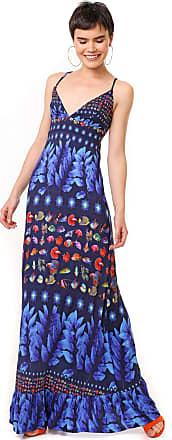 Desigual Vestido Desigual Longo Greta Azul