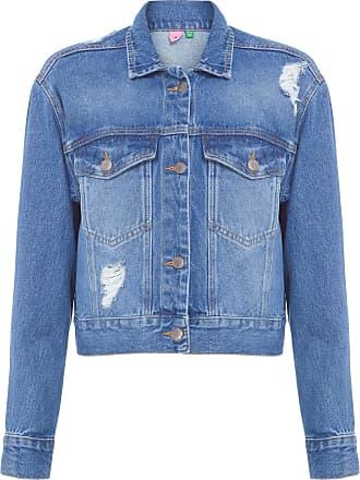 Farm Jaqueta Cropped Refarm Jeans - Azul
