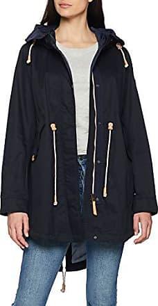 camel active Womenswear Damen 310740 Mantel, Blau (Navy 40