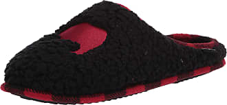 Dearfoams Womens Embroidered Animal Character Clog Slipper, Black, Medium