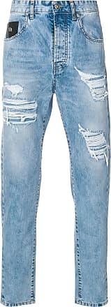 John Richmond ripped detail slim jeans - Azul
