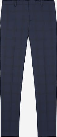 The Kooples Blue suit trousers in wool with check motif - MEN