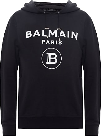Balmain Hooded Sweatshirt Mens Black