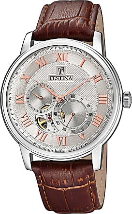 Festina Watch for Men, Brown, Leather, 2017, One Size