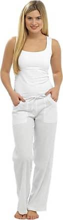 Tom Franks Ladies Womens Full Length Linen Trousers White Size 12