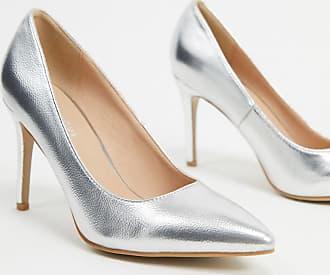 Glamorous Décolleté con tacco argento metallizzato