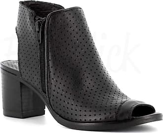 Generico Made in Italy Shoes Leather Open Toe - Black Black Size: 8 UK