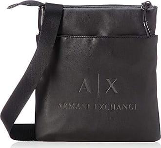 bc9230eebe Armani Small Flat Crossbody Bag, Besace homme, Noir (Black/Gun Metal)